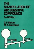 The Manipulation of Air Sensitive Compounds PDF