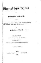 Biographisches lexikon des kaiserthums Oesterreich: enthaltend die lebensskizzen der denkwürdigen personen, welche seit 1750 in den österreichischen kronländern geboren wurden oder darin gelebt und gewirkt haben, Band 14