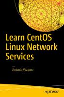Learn CentOS Linux Network Services PDF