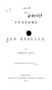 The Customs of New England PDF