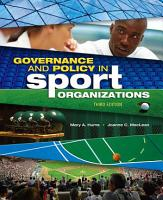 Governance and Policy in Sport Organizations PDF