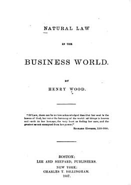 Natural Law in the Business World PDF