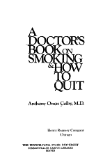 A Doctor s Book on Smoking and how to Quit PDF