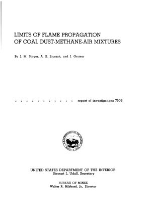Limits of Flame Propagation of Coal Dust methane air Mixtures