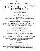Theologia Israelis, seu dissertatio textualis in Jesaiae Cap. LXIII. v. 8.9