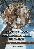 A Sourcebook for Genealogical Research PDF