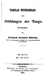 Tabulae phycologicae oder Abbildungen der Tange: III