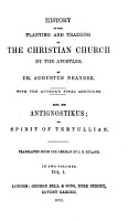 History of the Planting and Training of the Christian Church by the Apostles PDF