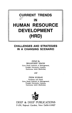 Current Trends in Human Resource Development  HRD  PDF