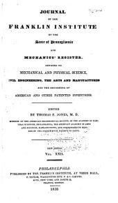 Journal of the Franklin Institute: Volume 22; Volume 26