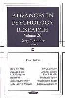 Advances in Psychology Research  Volume 26 PDF