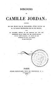 Discours de Camille Jordan