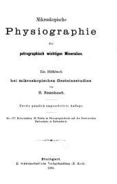 Mikroskopische Physiographie der Mineralien und Gestine: Die petrographisch wichtigen Mineralien