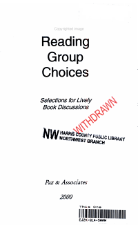 Reading Group Choices 2000 PDF