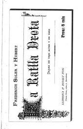 La ratlla dreta: drama en tres actes y en vers