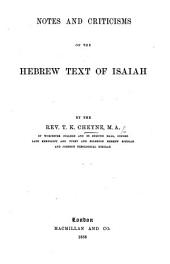 Notes and Criticisms on the Hebrew Text of Isaiah