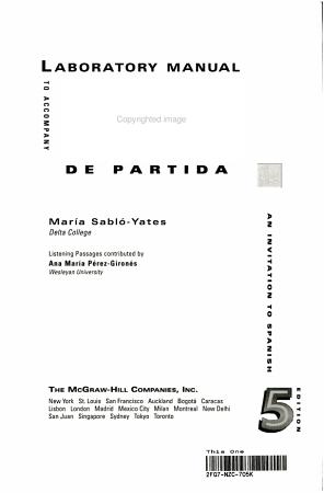 Laboratory Manual to Accompany Puntos de Partida PDF