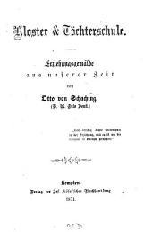 Kloster & Töchterschule: Erziehungsgemälde aus unserer Zeit
