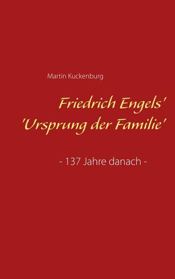 Friedrich Engels   Ursprung der Familie  PDF