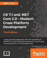 C  7 1 and  NET Core 2 0     Modern Cross Platform Development PDF
