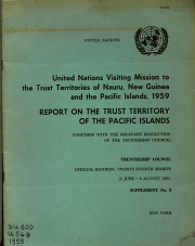 Report on the Trust Territory of the Pacific Islands  Together with the Relevant Resolution of the Trusteeship Council PDF
