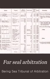 Fur Seal Arbitration: Volume 6