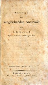 Beyträge zur vergleichenden Anatomie: Band 1