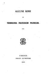 Alcune rime di Teodolinda Franceschi Pignocchi