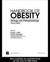 Handbook of Obesity PDF