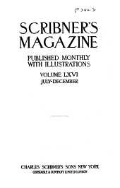 Scribner's Magazine: Volume 66