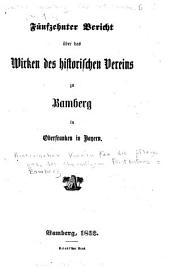 Quellensammlung für fränkische geschichte: Historischer verein für pflege der ges...zu Bamberg. Berich, v.15