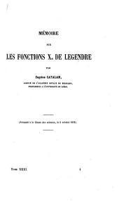 Mémoire sur les fonctions Xn de Legendre