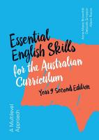 Essential English Skills for the Australian Curriculum Year 9 2nd Edition PDF