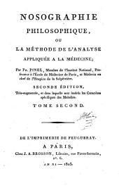 Nosographie, philosophique: ou, La méthode de l'analyse appliquée à la médecine, Volume2