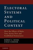 Electoral Systems and Political Context PDF