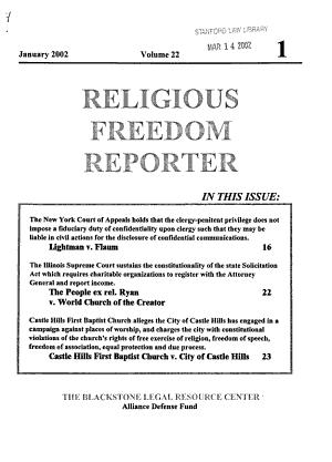 Religious Freedom Reporter PDF