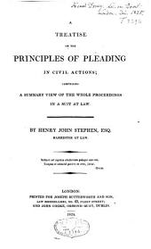 A Treatise on the Principles of Pleading in Civil Actions