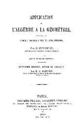 APPLICATION DE L'ALGEBRE A LA GEOMETRIE,