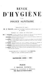 Revue d'hygiène et de police sanitaire: Volume14