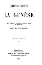Le Premier chapitre de la Genèse, exposé dans une suite de leçons pour une école du dimanche