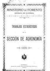 Trabajos estadisticos de la sección de agronomia