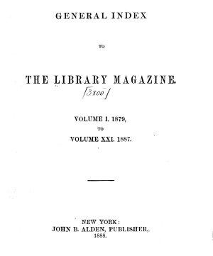 The Library Magazine PDF