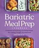 Bariatric Meal Prep Cookbook
