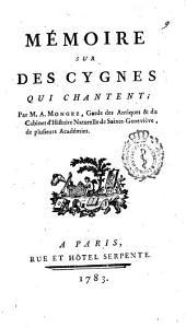 Mémoire sur des cygnes qui chantent