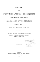 Journal of the ... Annual Encampment of the Department of Massachusetts, Grand Army of the Republic