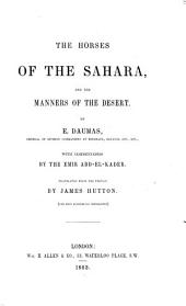 The Horses of the Sahara and the Manners of the Desert