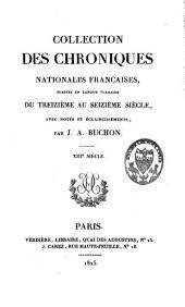COLLECTION DES CHRONIQUES NATIONALES FRANCAISES                                                                                                                                                                                                                                                                                                                                                                     COLLECTION DES CHRONIQUES NATIONALES FRANCAISES, ECRITES EN LANGUE VULGAIRE DU TREIZIEME AU SEIEME SIECLE, AVEC NOTES ET ECLAIRCISSEMENTS