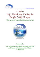 A Guide to Hajj Umrah and Visiting the Prophet