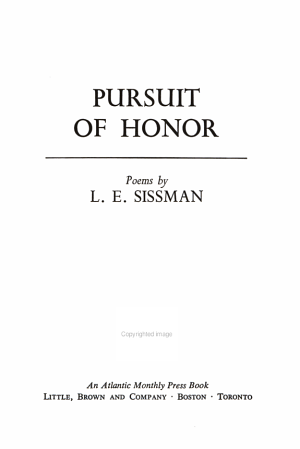 Pursuit of Honor