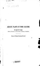 Aquatic plants in pond culture
